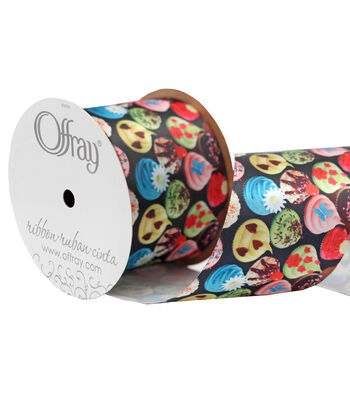 "Offray 2.25"" x 9' Foods Potato Chips Ribbon"