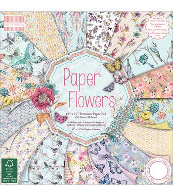 Papr Flowr-paper Pad 12x12