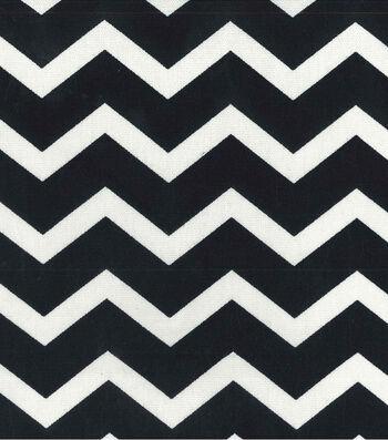 "Home Essentials Print Fabric 45""-Chevron Black"