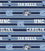 "University of North Carolina Tarheels Fleece Fabric 58""-Polo Stripe, , hi-res"