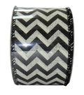 Decorative Ribbon 2.5\u0027\u0027 X 15\u0027-Black Chevron