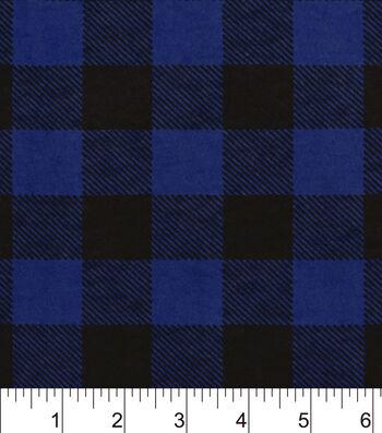 "Snuggle Flannel Fabric 42""-Blue Buffalo Check"