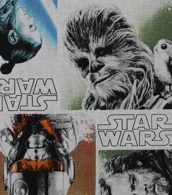 "Star Wars™: The Last Jedi Cotton Fabric 44""-Character Block"