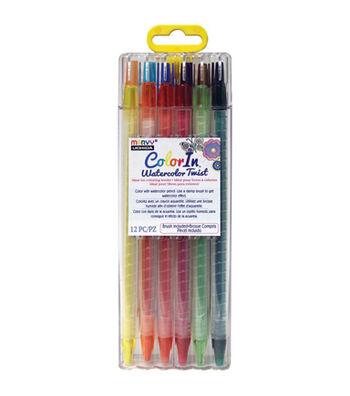 Marvy Uchida® Color In 12 pk Watercolor Twist Pencils & Brush