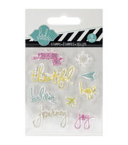 "Heidi Swapp Mixed Media Clear Mini Stamps 3""X3.5""-Journey, , hi-res"