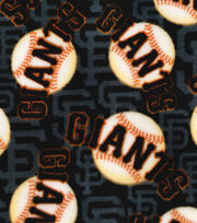 "San Francisco Giants Fleece Fabric 58""-Packed Logo, , hi-res"