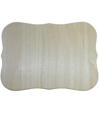 "Unfinished Wood Baltic Birch Plaque 1/Pkg-Roman 7.5""X10.5"""