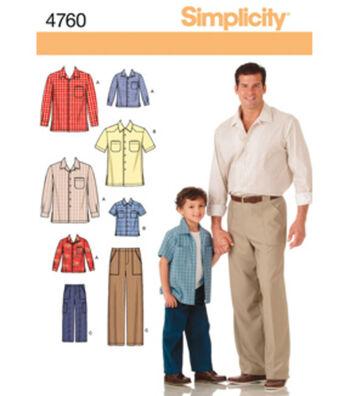 Simplicity Pattern 4760A S M L/S M -Simplicity Men Boy