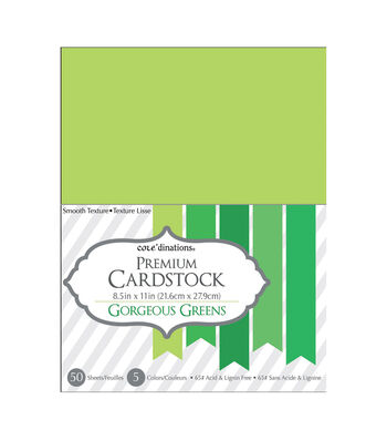 Core'dinations Cardstock Gorgeous Greens