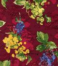 Watercolor Grapes Cotton