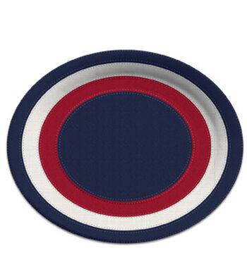 Americana Patriotic 8 pk Oval Plates-Stitched