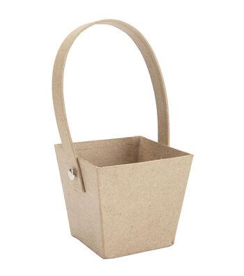 Darice Paper Mache Basket Square
