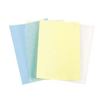 Dream Sequins™ 4 x 6 Sheets - Cream Blue & Yellow, 4pk