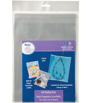 Darice Self Sealing Bags 8.25''x10.25'', , hi-res