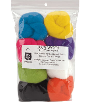 Wistyria Editions Roving Felting Wool