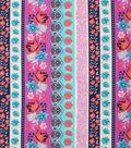 Keepsake Calico™ Cotton Fabric 43\u0022-Bright Floral Stripe