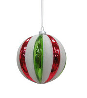 Maker's Holiday Whimsy Workshop Bulb Ornament-Red & Green Stripe, , hi-res