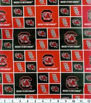 "University of South Carolina Gamecocks Cotton Fabric 43""-Logo, , hi-res"