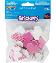 Darice Foam Stickers Valentine Hearts, , hi-res