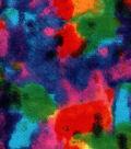 Snuggle Flannel Fabric 42\u0027\u0027-Multicolor Tie Dye
