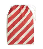 Maker's Holiday Christmas Jumbo Santa Canvas Bag-Candy Cane, , hi-res