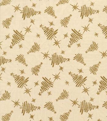 "Glitterbug Organza Fabric 58""-Gold Tress"