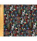Novelty Cotton Fabric-Happy Birthday Chalkboard