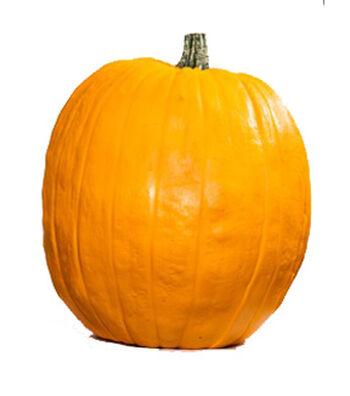 """Fun-kins 17"""" Artificial Carvable Pumpkin-Orange"""