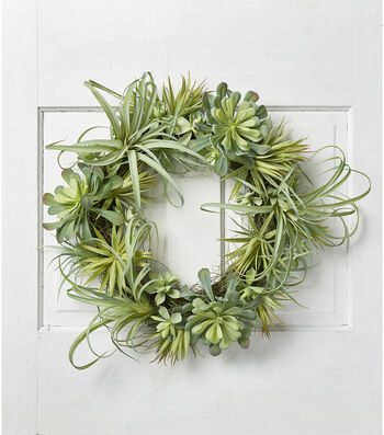 Hello Spring Air Plant & Succulent Wreath