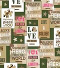 Military Home Front Girl Patch Cotton Fabric