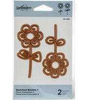 Spellbinders Shapeabilities Die D-Lites-Sketched Blooms 2, , hi-res