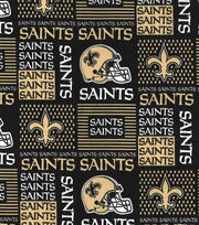 "New Orleans Saints Cotton Fabric 58""-Patch, , hi-res"