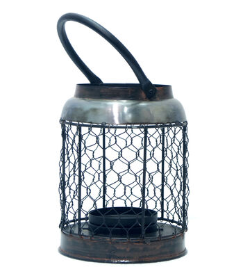 Hudson 43 Farm Small Chicken Wire Candle Holder