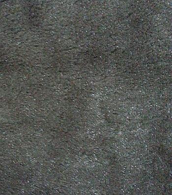 """Faux Mink Fur Fabric 59""""-Black"""