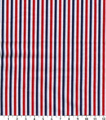 """Patriotic Cotton Fabric 43""""-Stripes"""