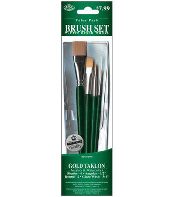 Gold Taklon Value Pack Brush Set 4 Pack