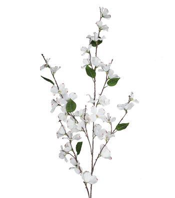 "Blooming Spring 48"" Dogwood Spray-Cream"