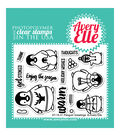Avery Elle Clear Stamps-Penguin Greetings