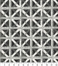 Waverly Multi-Purpose Decor Fabric 54\u0022-Squared Away Charcoal