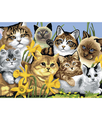 """15-1/4""""x11-1/4"""" Junior Paint By Number Kit-Cats Montage"""