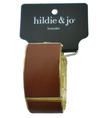 hildie & jo Stretch Buckle Bracelet-Gold & Tan
