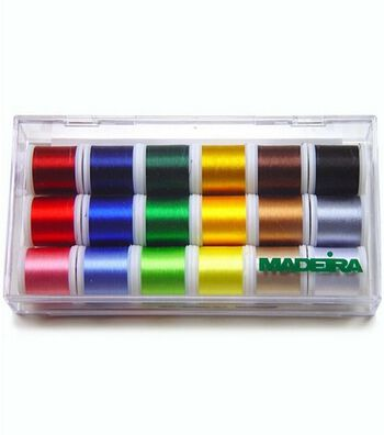 Madeira® Embroidery Thread Sampler--18 spools