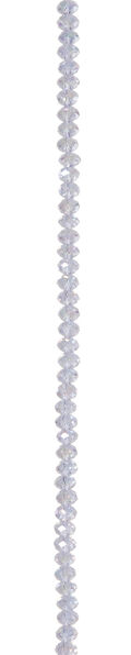 7\u0022 Bead Strands - Crystal Lavender AB Rondelles, 4 x 6mm