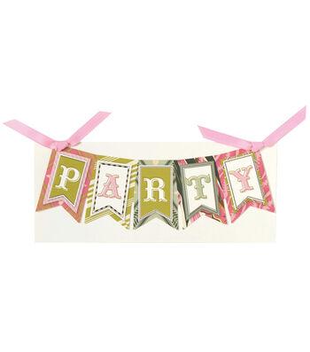 Anna Griffin Party Banner Diecut Word Custom Invitation