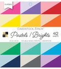 DCWV 42 Pack Double-Sided Printed Cardstock Stack-Pastels & Brights