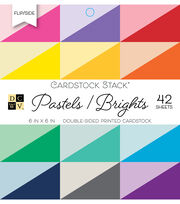 DCWV 42 Pack Double-Sided Printed Cardstock Stack-Pastels & Brights, , hi-res