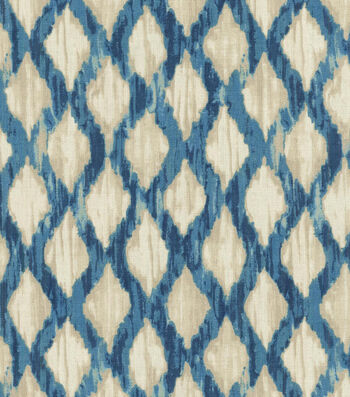 "Kelly Ripa Upholstery Fabric 54""-Floating Trellis Indigo"