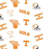 "University of Tennessee Volunteers Cotton Fabric 44""-White All Over, , hi-res"