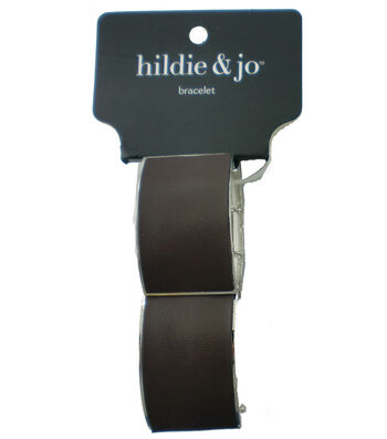 hildie & jo™ Square Stretch Bracelet-Silver & Brown