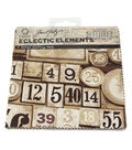 Coats 6\u0022x6\u0022 Eclectic Elements Labels Fabric